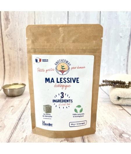 Lessive écologique au véritable savon de Marseille 50g - Anotherway