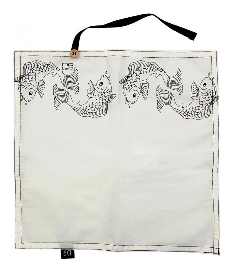 Serviette coton poisson - NUBENTO by Cookut