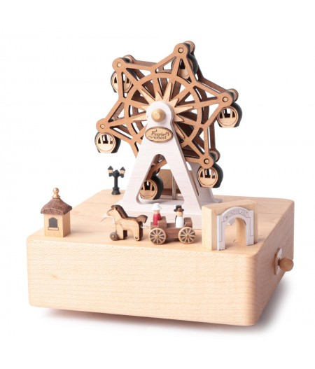 Ferris Wheel Amusement Park - City wooden Music Box - Wooderful life