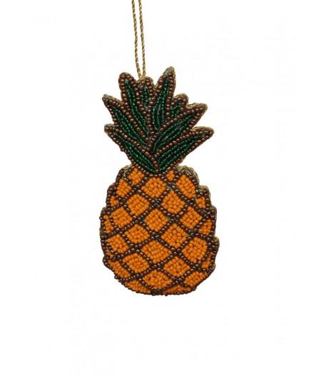 Suspension ananas perles oranges - Chehoma