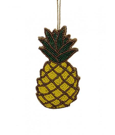 Suspension ananas perles jaunes - Chehoma