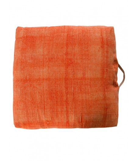Pouf 60cm bâche orange - Chehoma