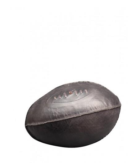 Ballon de rugby cuir noir - Chehoma