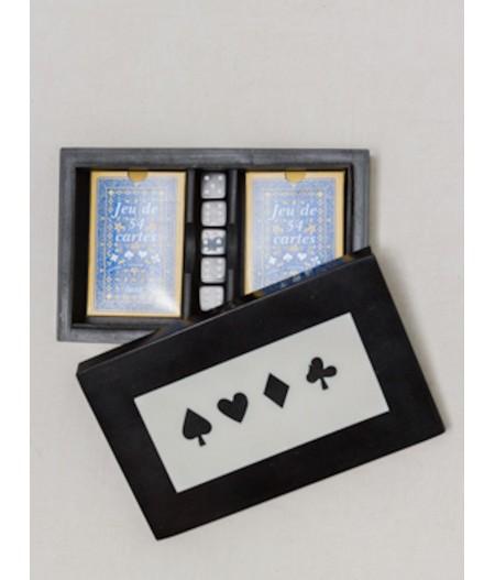Boîte de jeux - 2 jeux de cartes & dés – Chehoma