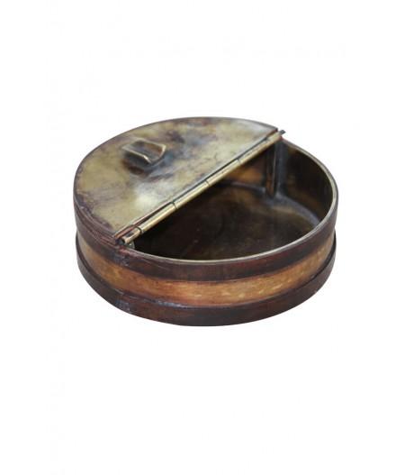 Cendrier à rabats cuir et laiton - Chehoma