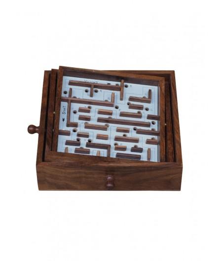 Jeu de labyrinthe en bois - Chehoma