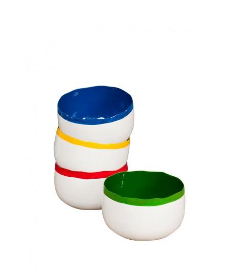 Set de 4 bols colorés émaillés  - Chehoma