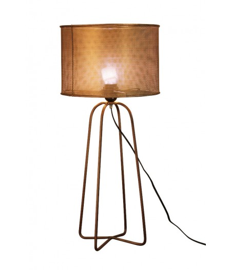 Lampe cylindre laiton 63cm - Chehoma