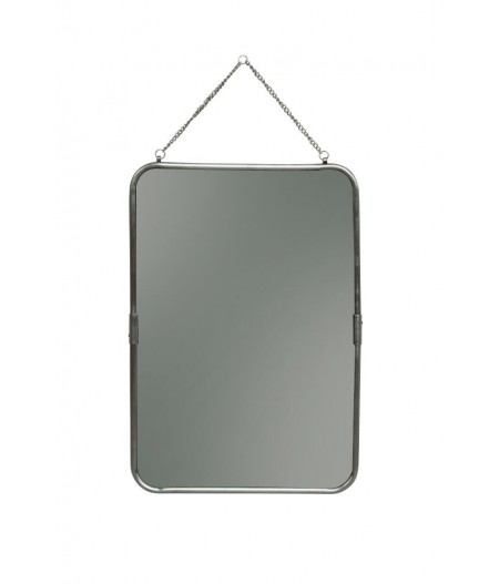 Miroir portrait 39x57cm patine nickel - Chehoma