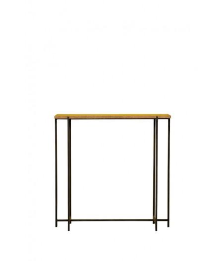 Console étroite bois & métal 82x20cm - Chehoma