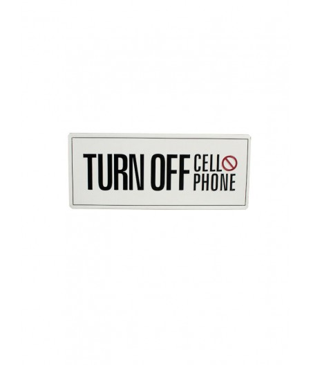 Plaque métal 'Turn off cell phone'  – Chehoma