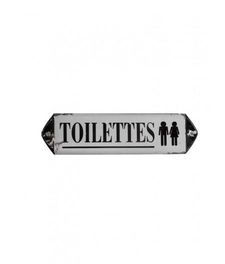Plaque métal Toilet - Chehoma