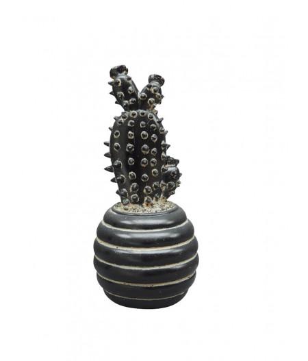 Déco cactus en pot noir - Chehoma