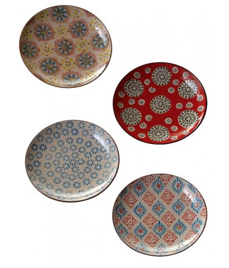 Set de 4 assiettes Bohemian 20 cm - Chehoma