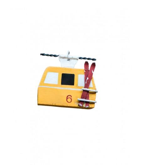 Suspension téléphérique jaune Chehoma - Déco de noel