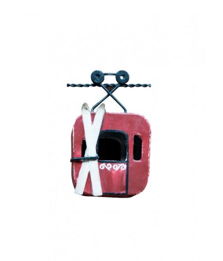 Suspension téléphérique rouge - Chehoma