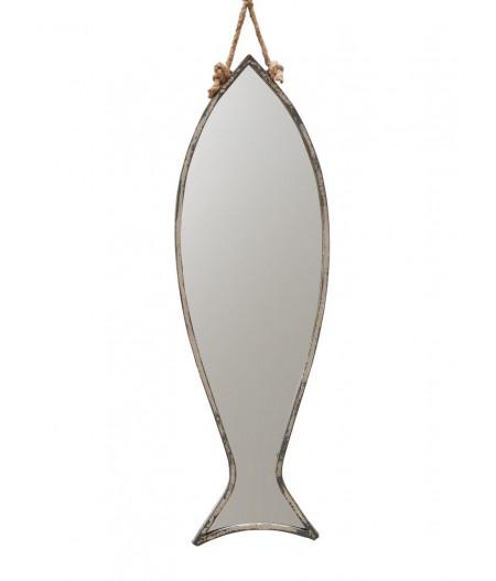 Grand miroir poisson à suspendre –- Chehoma