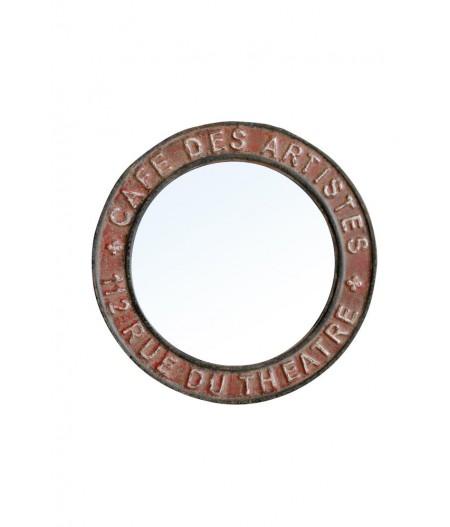 Miroir rond 'Café des artistes' - Chehoma