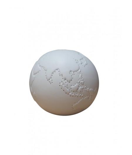 Lampe mappemonde en porcelaine - Chehoma