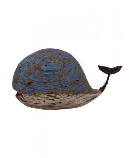 Déco baleine en bois Bleue –- Chehoma
