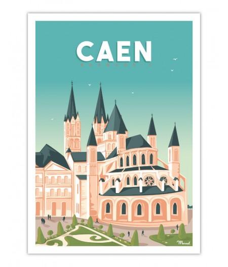 Affiches Marcel Small Edition - CAEN L'abbaye aux hommes 30x40cm 350 g/m²