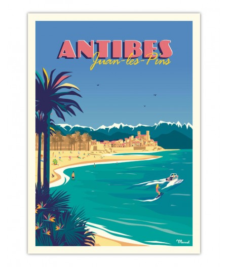 Affiches Marcel Small Edition - ANTIBES Juan-les-Pins 30x40cm 350 g/m²