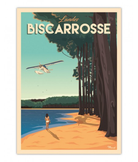Affiches Marcel Small Edition - Biscarosse 30x40cm 350 g/m²