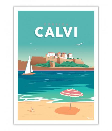 Affiches Marcel Small Edition - Calvi 30x40cm 350 g/m