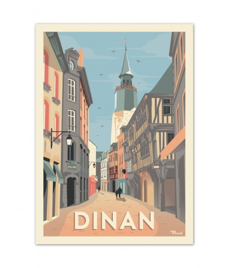 Affiches Marcel Small Edition - DINAN 30x40cm 350 g/m