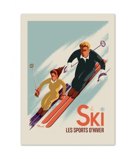 Affiches Marcel Small Edition - CLASSICS WINTER SKI - Les Skieurs 30x40cm 350 g/m