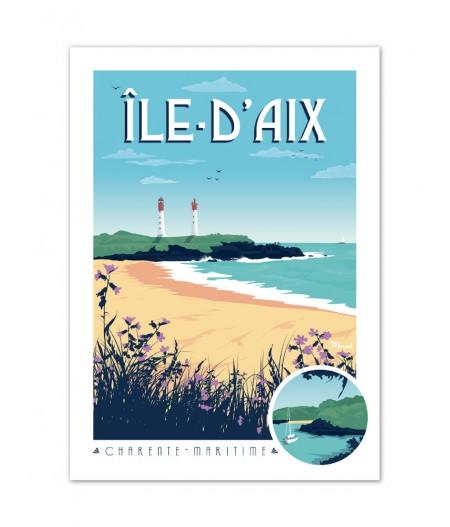 Affiches Marcel Small Edition - ILE DAIX 30cm x 40cm 350 g/m²