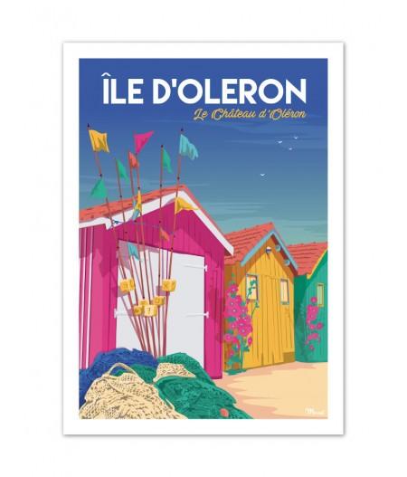Affiches Marcel Small Edition - ILE DOLERON Château dOléron 30cm x 40cm 350 g/m²