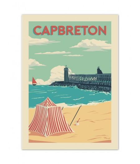 Affiches Marcel Small Edition - CAPBRETON Estacade 30cm x 40cm 350 g/m²