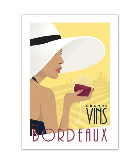 Affiches Marcel Small Edition - BORDEAUX Grands Vins Bordeaux 30cm x 40cm 350 g/m²