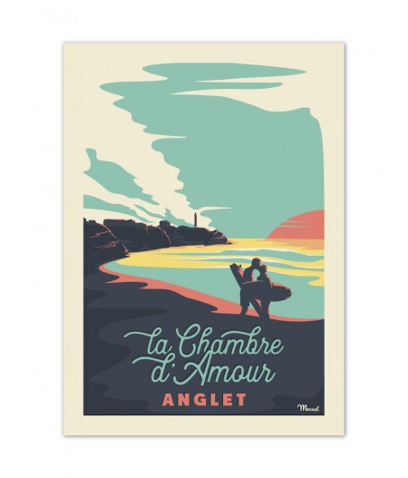 Affiches Marcel Small Edition - ANGLET Chambre dAmour 30cm x 40cm 350 g/m²