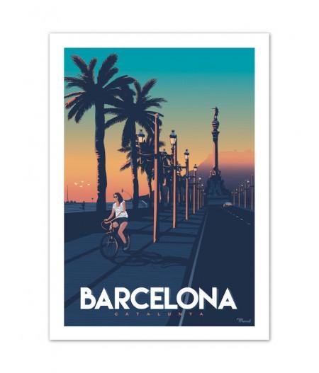 Affiches Marcel Small Edition - BARCELONA Passeig de Collomb 30cm x 40cm 350 g/m²