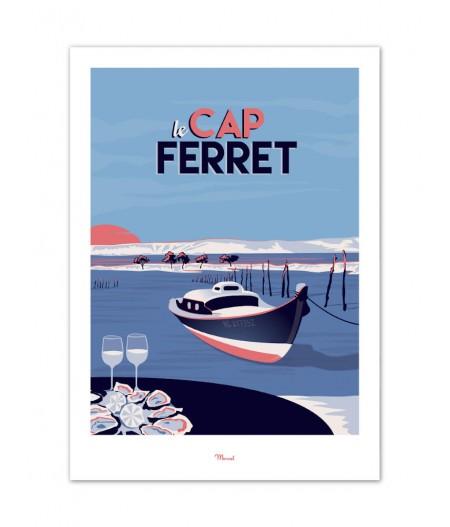 Affiches Marcel Small Edition - CAP FERRET Le Mimbeau 30cm x 40cm 350 g/m²