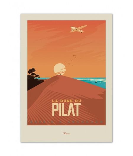 Affiches Marcel Small Edition - BASSIN DARCACHON Dune du Pilat 30cm x 40cm 350 g/m²