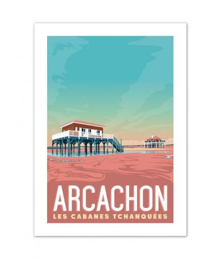 Affiches Marcel Small Edition - ARCACHON Les Cabanes 30cm x 40cm 350 g/m²