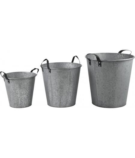 Pots Zinc Anse Cuir GM H62cm - Athezza