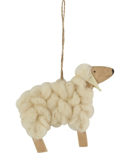 Mouton Gordon Blanc suspendu 12xH10cm - Athezza