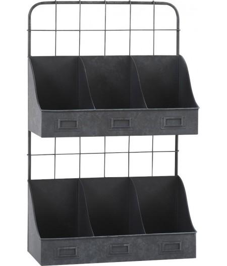Etagère 6 Casiers 39x17xH61cm - Athezza