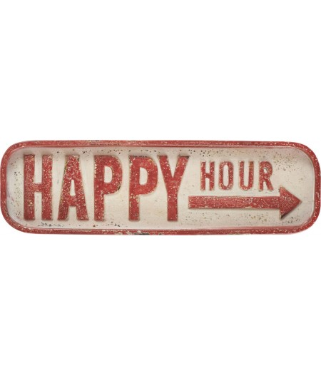 Plaque Happy Hour 56xH16.5cm - Athezza
