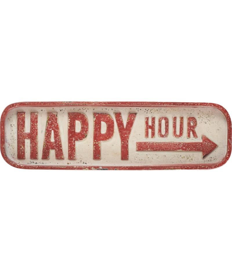 Plaque Happy Hour 56xH16.5cm - Athezza