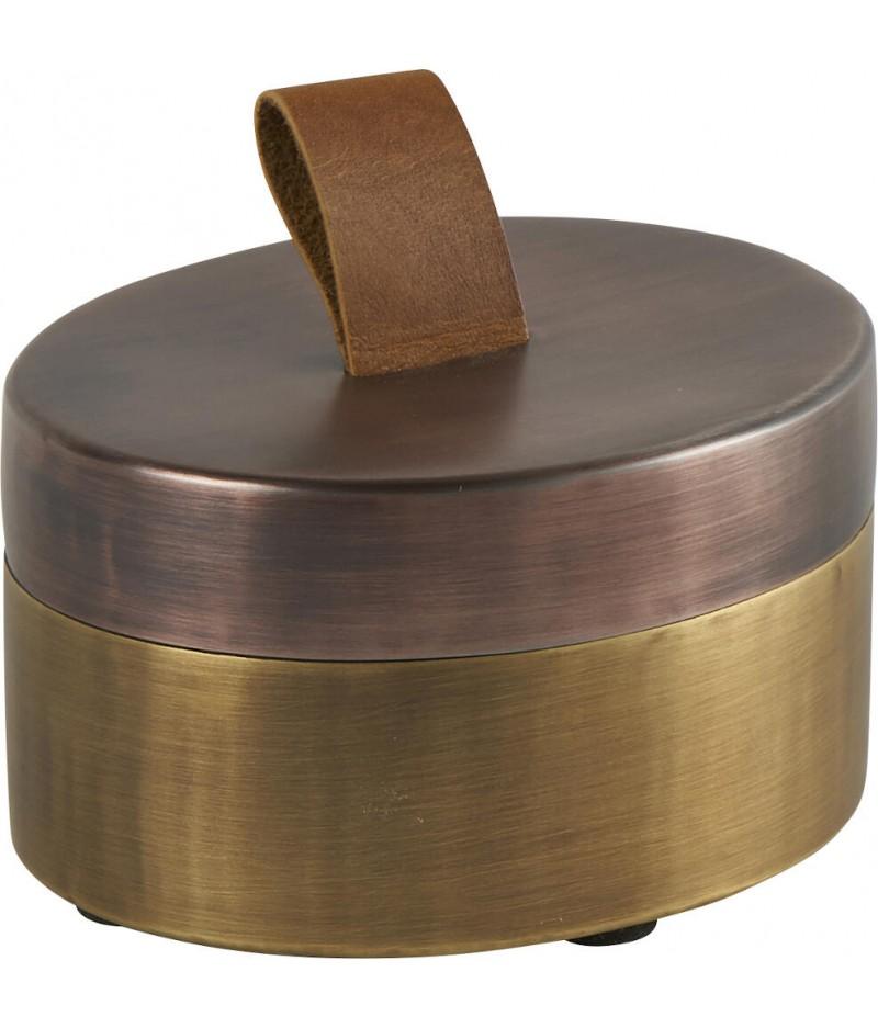 Boite Mona Brass D12.5xH7cm - Athezza