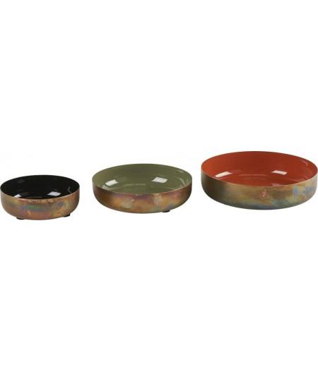 Coupes Colors Set de 3, D18,5/15,5/12cm - Athezza