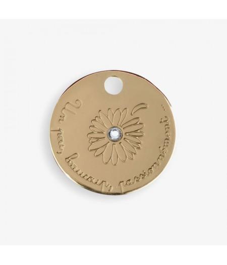 Médaille dorée Daisy un peu, beaucoup, passionnément - Le Bijou de Mimi