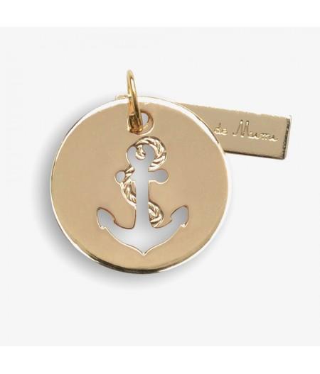 Médaille dorée Ancre Anchor - Le Bijou de Mimi