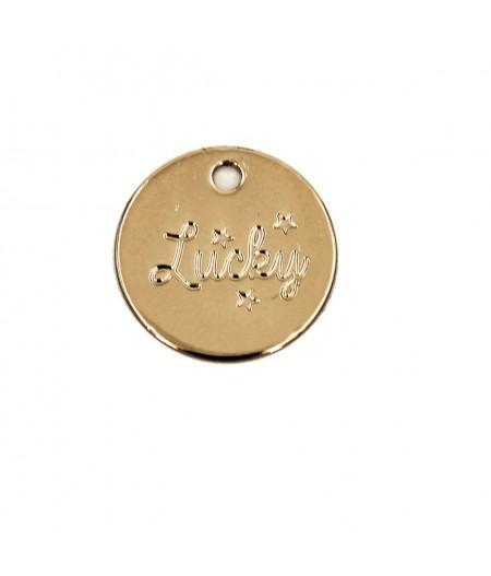 Médaille dorée Lucky - Le Bijou de Mimi