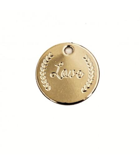 Médaille dorée Mot Love - Le Bijou de Mimi